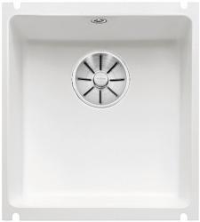 BLANCO SUBLINE 375-U Ceramika PuraPlus biały połysk z korkiem InFino