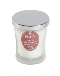 Price's Candles zapachowa świeca w słoiczku - średnia LILIY & SANDALWOOD