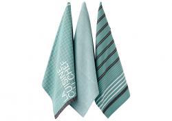 Ladelle La Cuisine wzór Szare komplet trzech ręczników kuchennych L32223