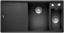 BLANCO AXIA III 6 S Silgranit PuraDur antracyt komora prawa z kor. InFino, korkiem aut., deską szklaną i odsączarką stalową