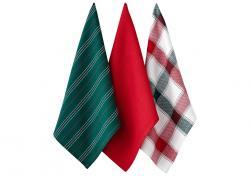 Ladelle Christmas Brick komplet trzech ręczników kuchennych L73572 wzór 4
