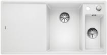 BLANCO AXIA III 6 S Silgranit PuraDur biały komora prawa z kor. InFino, korkiem aut., deską szklaną i odsączarką stalową