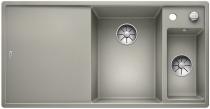 BLANCO AXIA III 6 S Silgranit PuraDur perłowoszary komora prawa z kor. InFino, korkiem aut., deską szklaną i odsączarką stalową