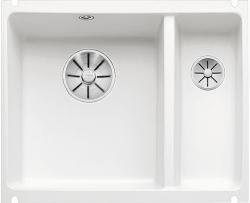 BLANCO SUBLINE 350/150-U ceramika PuraPlus biały połysk z korkami InFino