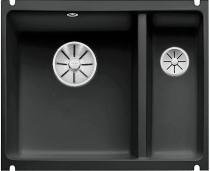 BLANCO SUBLINE 350/150-U ceramika PuraPlus czarny z korkami InFino