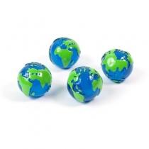 Magnesy Glob 4 szt. niebiesko-zielone