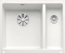 BLANCO SUBLINE 350/150-U ceramika PuraPlus biały mat z korkami InFino