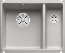 BLANCO SUBLINE 350/150-U ceramika PuraPlus szarość aluminium z korkami InFino