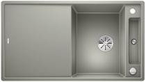 BLANCO AXIA III 5 S Silgranit PuraDur perłowoszary  z korkiem InFino, korkiem aut. i deską szklaną