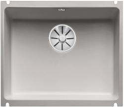 BLANCO SUBLINE 500-U ceramika PuraPlus szarość aluminium z korkiem InFino
