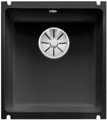 BLANCO SUBLINE 375-U ceramika PuraPlus czarny z korkiem InFino