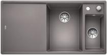 BLANCO AXIA III 6 S Silgranit PuraDur alumetalik komora prawa z kor. InFino, korkiem aut., deską szklaną i odsączarką stalową