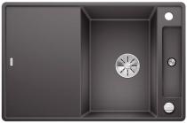 BLANCO AXIA III 45 S-F szarość skały z deską szklaną