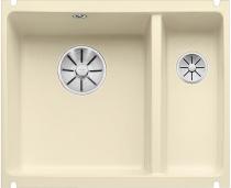 BLANCO SUBLINE 350/150-U ceramika PuraPlus jaśminz korkami InFino
