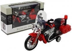 Motocykl Motor z Napędem Policyjny 1:16 Czerwony