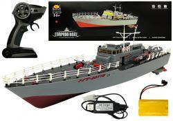 Statek Kuter Torpedowy Zdalnie Sterowany R/C 1:115 2.4G Czerwony