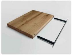 Elica BIO Półka przyścienna 60 cm, wykończenie drewno