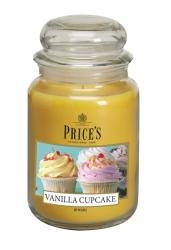 Price's Candles zapachowa świeca w dużym słoiku - VANILLA CUPCAKE