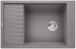 BLANCO ELON XL 6 S Silgranit PuraDur Alumetalik odwracalny, InFino, kratka ociekowa