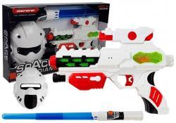 Kosmiczny Pistolet Laserowy z Maską Miecz Świecący