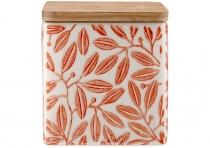 Ladelle Leaves Burnt Orange wzór 3 pojemnik do przechowywania żywności L61420
