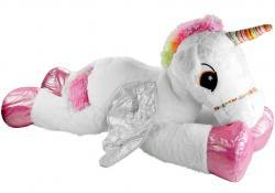 Duży Pluszowy Jednorożec Koń Maskotka Biały 120 cm