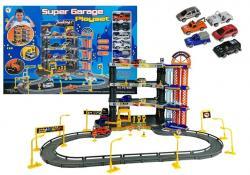 Zestaw Super Garaż Poziomowy Parking + 6 Autek