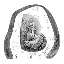 Skałka kryształowa aniołki z dzieciątkiem (04116)