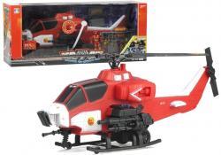 Duży Helikopter Strażacki Ratunkowy Ze Strażakiem
