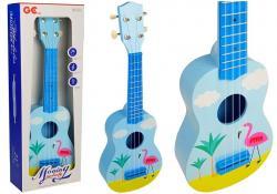 Ukulele 53 cm Gitara Niebieskie Flaming