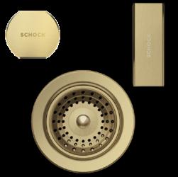 SCHOCK elementy w kolorze białego złota do zlewozmywaków CRISTADUR