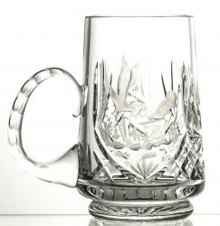 Kufel kryształowy grawerowany do piwa grawer żuraw (13133)