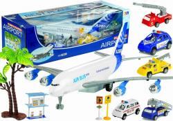 Duży Zestaw Samolot 55 cm + Pojazdy + Figurki