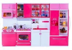 Zabawkowa Kuchnia z Wieloma Akcesoriami Gra Świeci