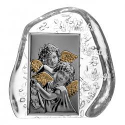 Skałka kryształowa aniołki na Chrzest (04073)
