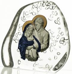 Skałka przycisk Święta Rodzina kryształ 3948