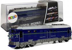 Pociąg Pendolino Lokomotywa z Naciągiem Światła i Dźwięk Niebieski