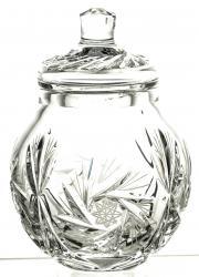 Miodownica na miód kryształowa naczynie (05943)