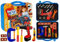 Zestaw narzędzi w walizce Wiertarka Młotek Nożyk