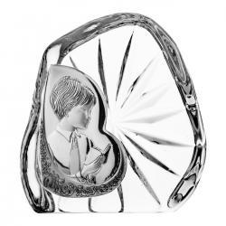 Skałka przycisk dla chłopca Komunia Święta kryształ 7335