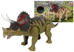 Dinozaur Triceratops Zielony Na Baterie