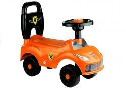 Jeździk Dla Dziecka Klakson Naklejki Pomarańczowy