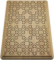 BLANCO Deska drewniana jesion z ornamentem, 465x285, [FARON XL 6 S]
