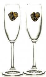 Kieliszki ślubne do szampana kryształ 2 sztuki (13179)
