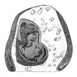 Komunia skałka kryształowa dla dziewczynki 3564