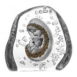 Przycisk kryształowy Matka Boska z Dzieciątkiem 02612