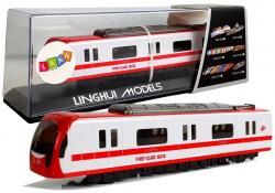 Pociąg Kolejka Lokomotywa z Napędem Dźwięk i Światła Czerwony
