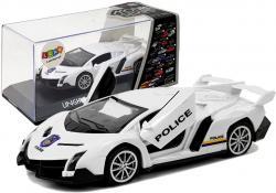 Auto Sportowe z Naciągiem i Dźwiękiem Policyjne Białe