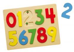 Viga 58545 Puzzle układanka na podkładce cyferki