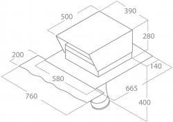 ELICA Silnik Dachowy ( dach spadzisty ) KIT0147882